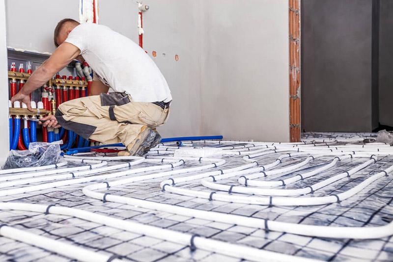 مصرف انرژی در سیستم گرمایش از کف بسیار بهینه است.