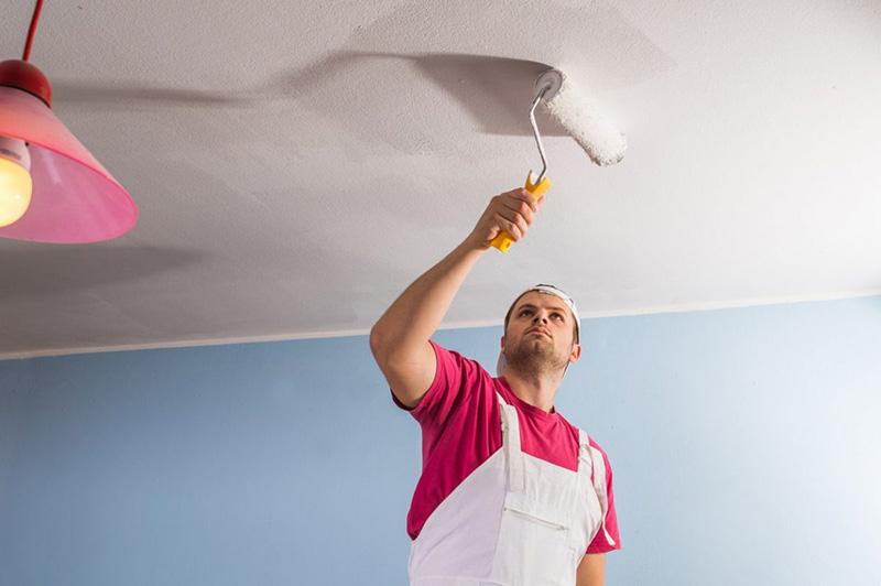 اصول نقاشی سقف با رنگ پلاستیک   نکات رنگ آمیزی سقف خانه