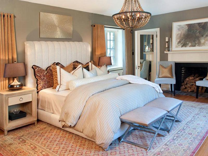 کاربرد نور در دکوراسیون زمستانی اتاق خواب | استفاده از نور زرد و سفید | نورپردازی اتاق خواب