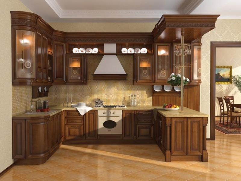 چیدمان کابینت آشپزخانه مدل U