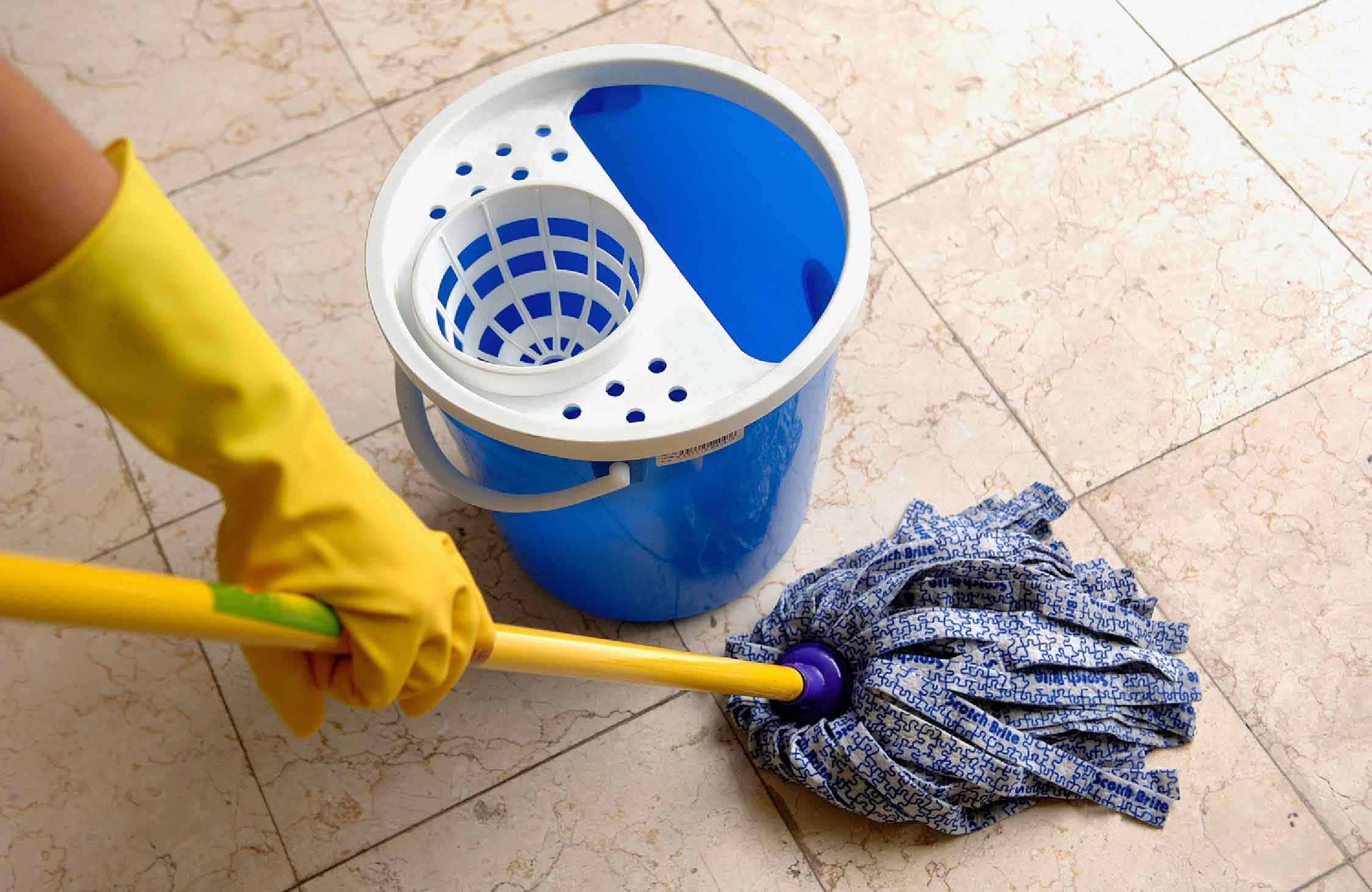 انواع راهکار ها و روش های شست و شو و نظافت کف ساختمان