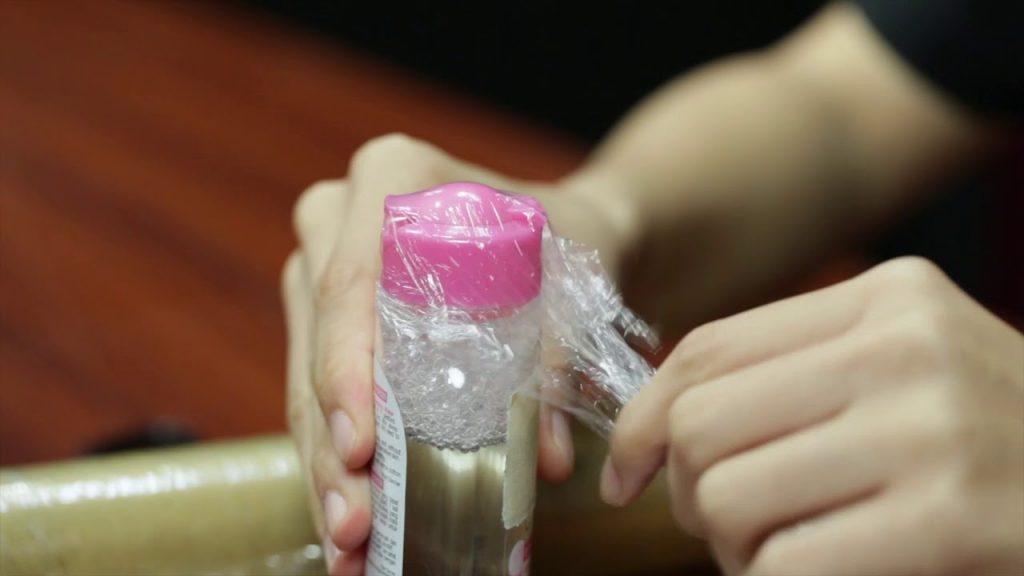 برای پبسته بندی مایعات از پوشش پلاستیکی استفاده کنید