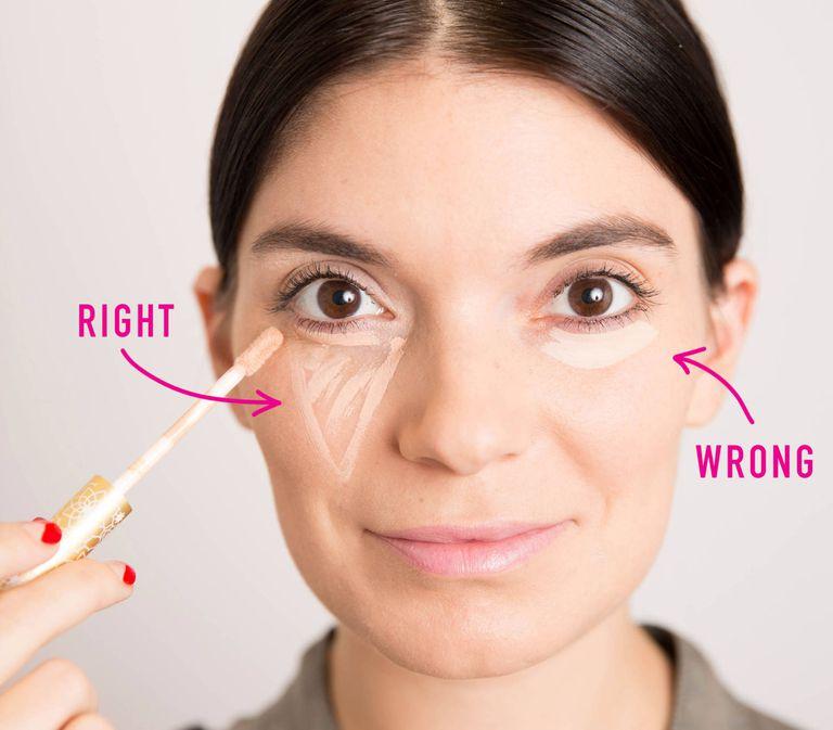 روش استفاده از کانسیلر دور چشم استفاده از کانسیلر برای صورت