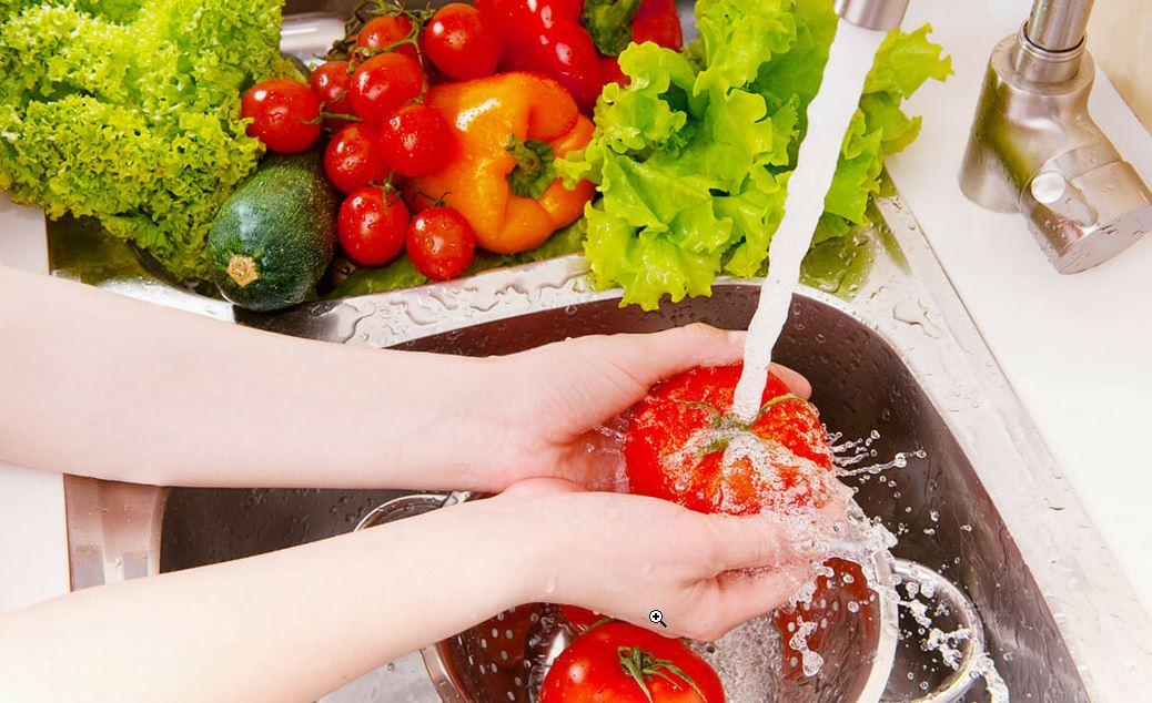 شستن سبزیجات + شستن میوه