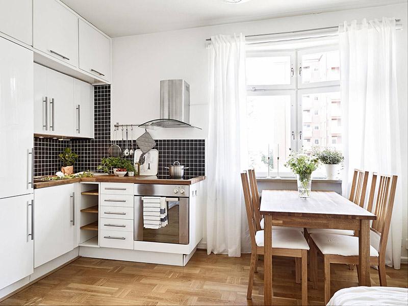 مدل کابینت ام دی اف آشپزخانه کوچک خود را میتوانید از میان کابینتهای هایگلاس یا پلی گلاس انتخاب کنید.
