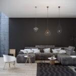 رنگ کاری نشیمن و اتاق پذیرایی: اصول و تصاویر آن
