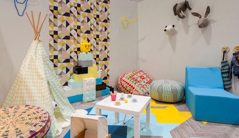 پاف مبل برای لمیدن، آسودن و نشستن در اتاق کودک