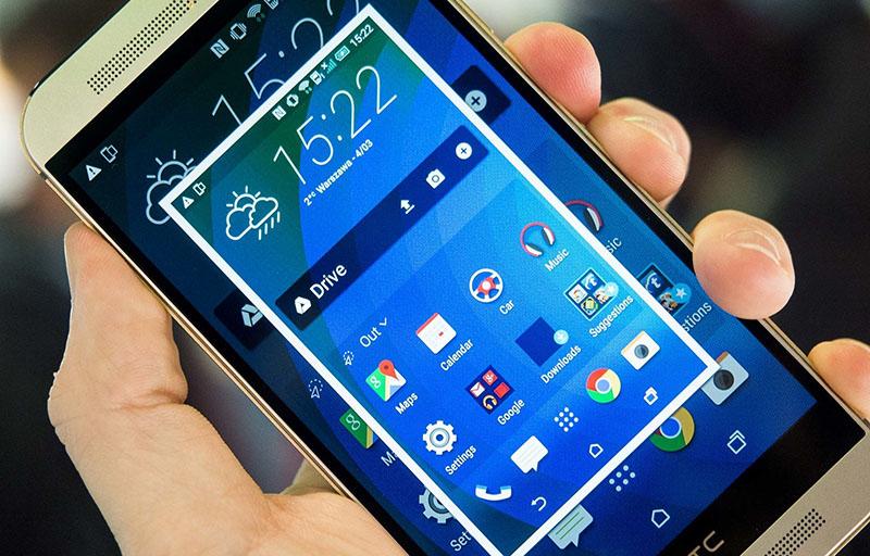 اسکرین شات گرفتن در گوشیهای اچ تی سی