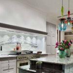 ارتفاع آویزهای نورپردازی آشپزخانه جزیره ی چقدر باید باشد؟