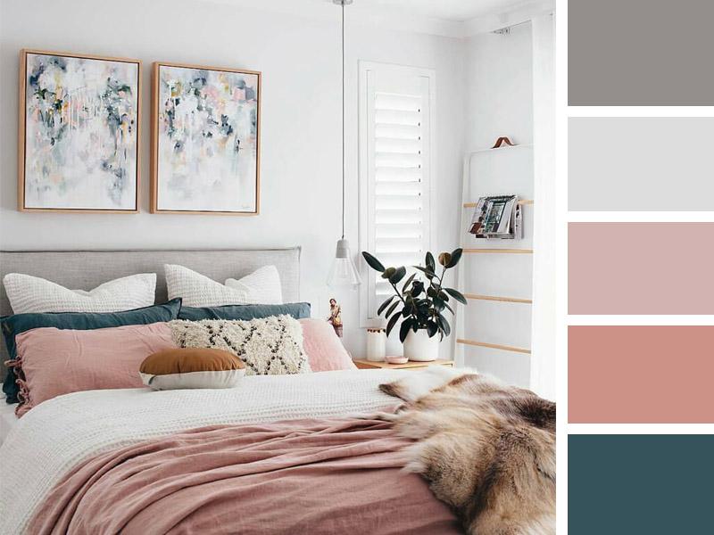 ترکیب رنگهای جذاب در طراحی داخلی اتاق خواب