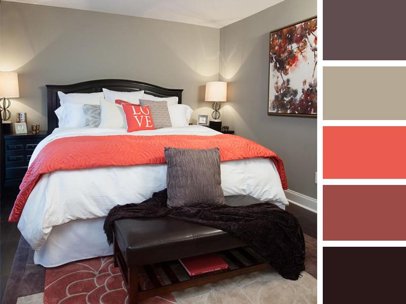 ترکیب رنگ خلاقانه برای دکوراسیون اتاق خواب کوچک و بزرگ