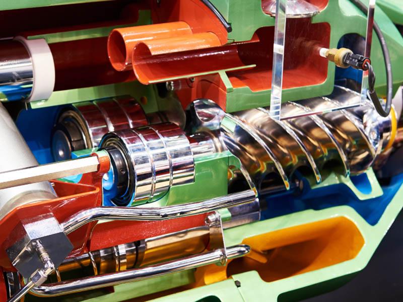 قطعات کمپرسور اسکرو اجزای تشکیل دهنده کمپرسور باد