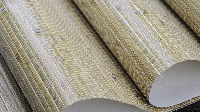 کاغذ دیواری با چوب بامبو