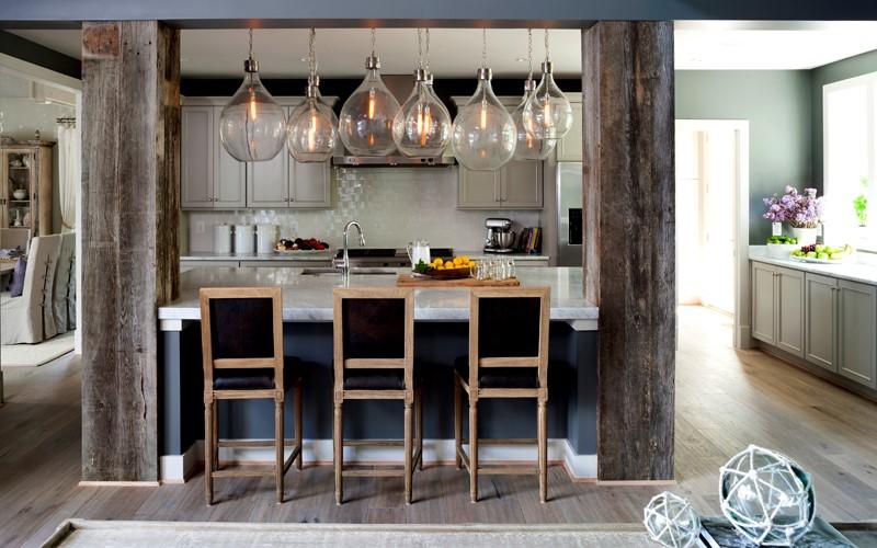 طراحی ستون داخل منزل | ستون کانتر آشپزخانه