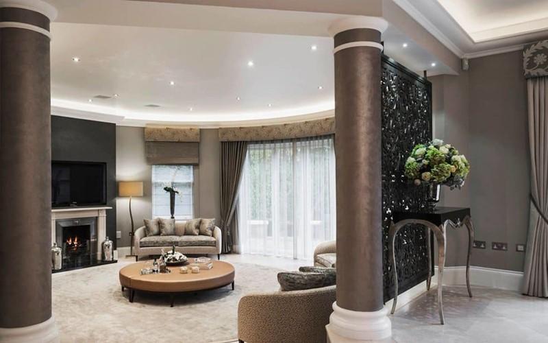طراحی ستون داخل منزل | تزیین ستون کنار دیوار