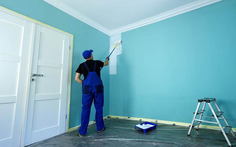 نحوه محاسبه هزینه رنگآمیزی دیوار و سقف