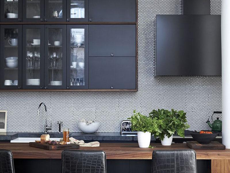 رنگ و مدل کابینت آشپزخانه تیره