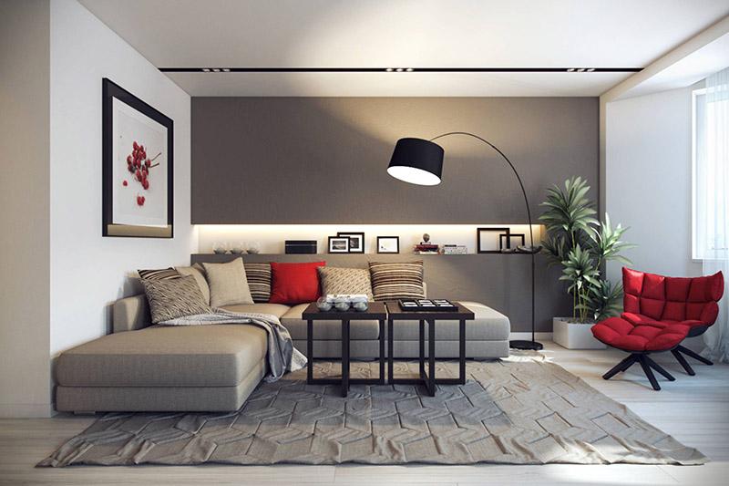چیدمان و ترکیب رنگ مناسب هال و نشیمن کوچک خانه